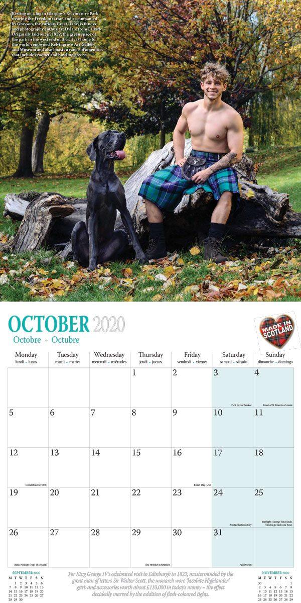We Love Kilts Calendar 2020 buff dudes